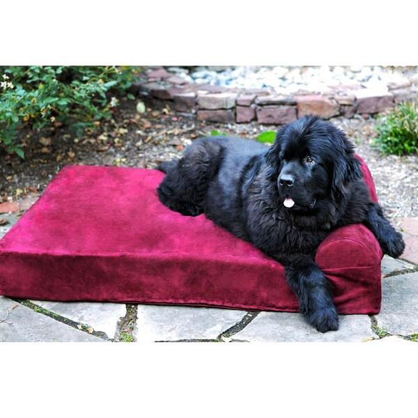 Big Barker Headrest Edition Pillow Top Orthopedic Dog Bed