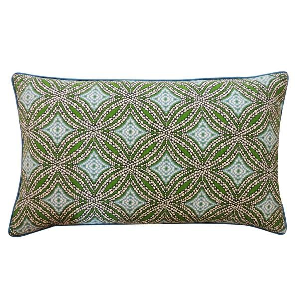 "Handmade Turtle Pebble Blue Decorative Pillow - 12"" x 20"""