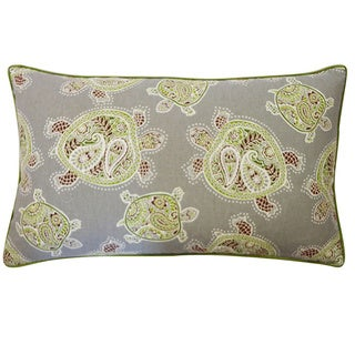 Turtle Pebble Green Decorative Throw Pillow