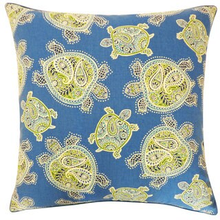20 x 20-inch Turtle Blue Decorative Throw Pillow
