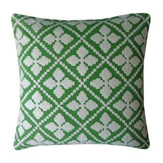 Sanddollar Green Decorative Throw Pillow