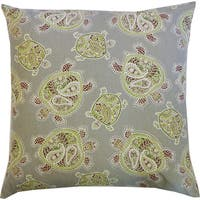 20 x 20-inch Turtle Green Decorative Throw Pillow