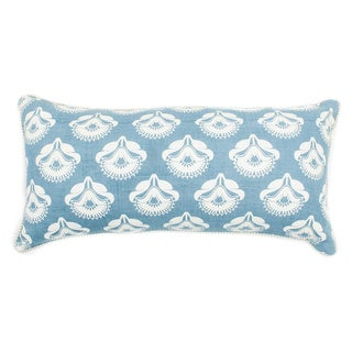 PoppyPrint Pale Blue Decorative Throw Pillow
