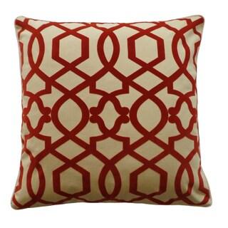 Tangle Red Decorative Throw Pillow