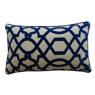 12 x 20-inch Tangle Blue Decorative Throw Pillow