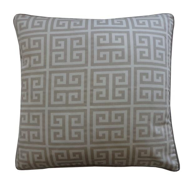 Handmade Riddle Gray Decorative Pillow