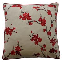20 x 20-inchChina Pink Decorative Throw Pillow
