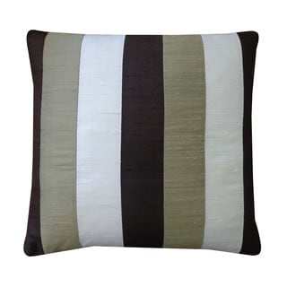 Zebra Brown Cream Sage Decorative Throw Pillow