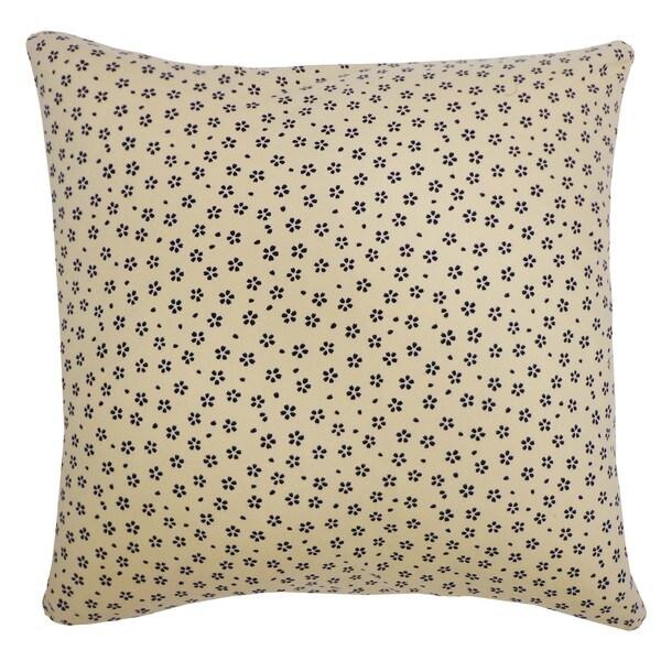 Handmade Kioto Diana Cream Decorative Pillow