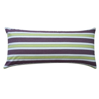 12 x 26-inch Funstripe Purple Decorative Throw Pillow