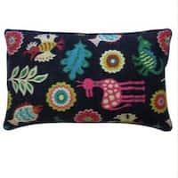 12 x 20-inch Noah Black Decorative Throw Pillow