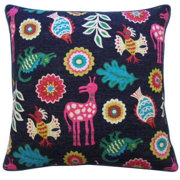 "Handmade Noah Black Decorative Pillow - 20"" x 20"""
