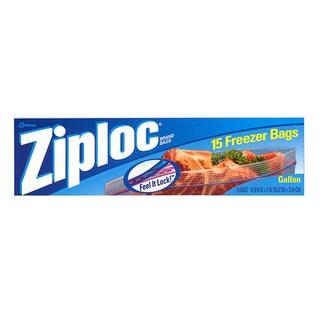 Ziploc Gallon Plastic Freezer Bags 15-bags (12 pack)