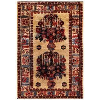 Handmade Herat Oriental Afghan 1960s Semi-antique Tribal Balouchi Wool Rug (Afghanistan) - 2'11 x 4'3