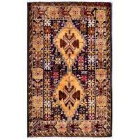 Handmade Herat Oriental Afghan 1960s Semi-antique Tribal Balouchi Wool Rug (Afghanistan) - 2'10 x 4'7