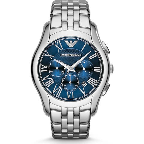 Emporio Armani Men's AR1787 Classic Blue Dial Stainless Steel Watch