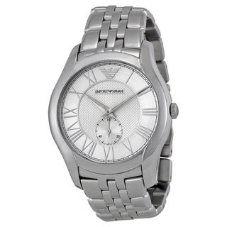 Emporio Armani Men's 'Classic' Silver Stainless Steel Watch