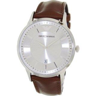 Emporio Armani Men's AR2463 Classic Brown Leather Watch
