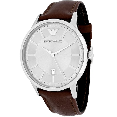 Emporio Armani Men's AR2463 Classic Brown Leather Watch