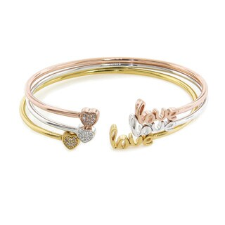 Eternally Haute Love and Heart Sentiment Bangle