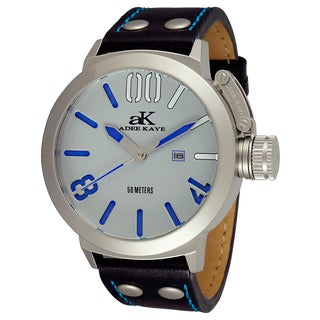 Adee Kaye Men's 'Mondo' Black/ Blue Watch