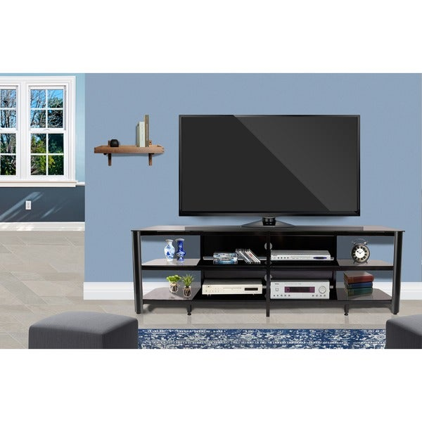 Shop Fold N Snap Oxford 83 Inch Black Innovex Tv Stand Free