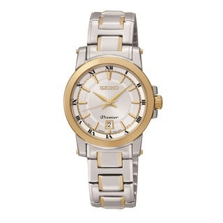 Seiko Women's SXDF44 'Premier' Two-tone Stainless Steel Watch
