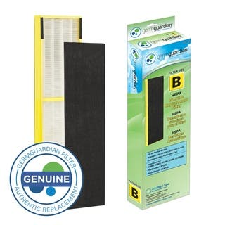 GermGuardian FLT4825 True HEPA GENUINE Replacement Filter B for AC4300/AC4800/4900 Series Air Purifiers - Green