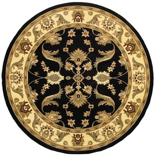 LNR Home Adana Black/ Cream Oriental Rug (6'2 Round)