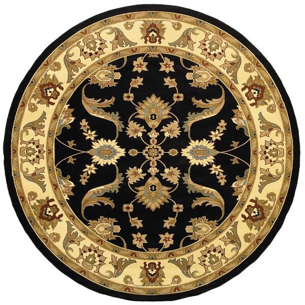 LR Home Adana Black/ Cream Oriental Rug (9u0026#x27;1 Round)