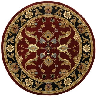LNR Home Adana Red/ Black Oriental Rug (9'1 Round)