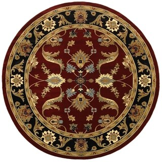LNR Home Adana Red/ Black Oriental Rug (6'2 Round)