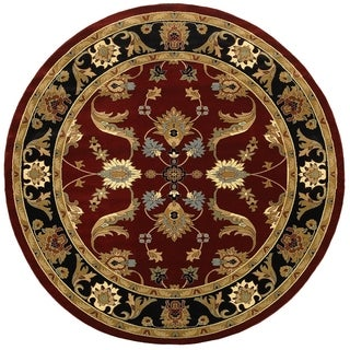 LNR Home Adana Red/ Black Oriental Rug (6'2 Round)