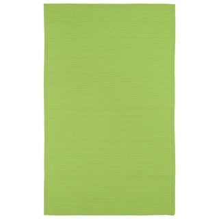 Indoor/ Outdoor Malibu Woven Lime Green Rug (9' x 12') - 9' x 12'