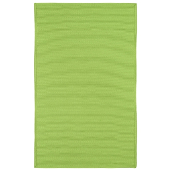 Indoor/ Outdoor Malibu Woven Lime Green Rug