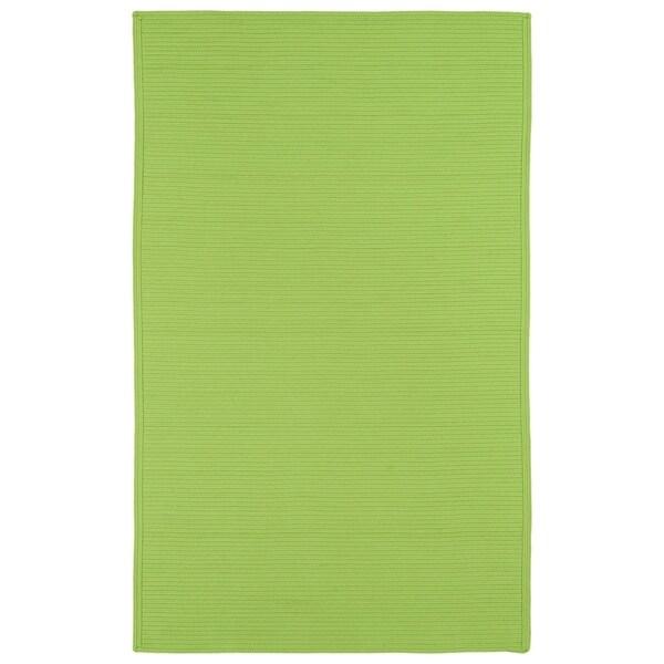 Indoor/ Outdoor Malibu Woven Lime Green Rug (8' x 11')