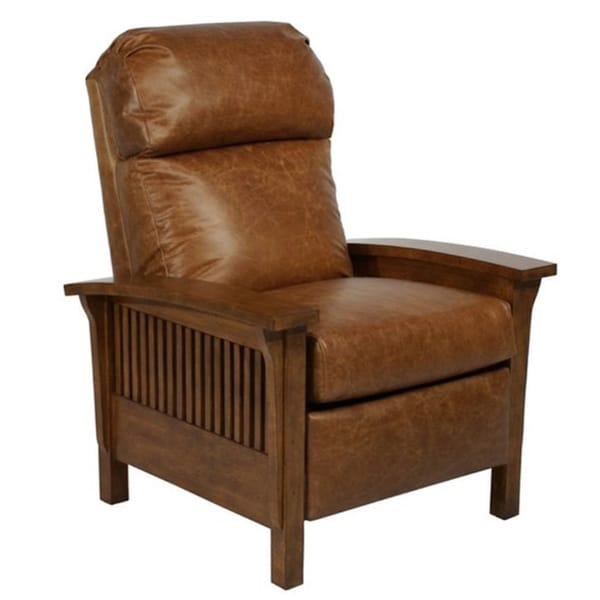 Craftsman II Mission Leather Recliner - Free Shipping Today - Overstock.com - 16316862