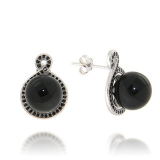 Pearlz Ocean Black Onyx and Black Spinel Drop Earrings