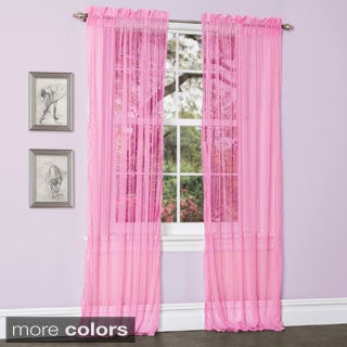 Lush Decor Lola Sheer Curtain Panel Pair