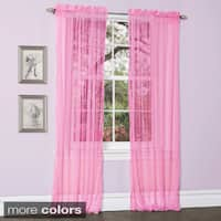 Lush Decor Lola Sheer Curtain Panel Pair - 50 x 84
