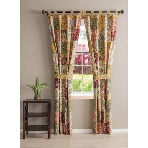 Greenland Home Fashions Antique Chic Patchwork Curtain Panel Pair