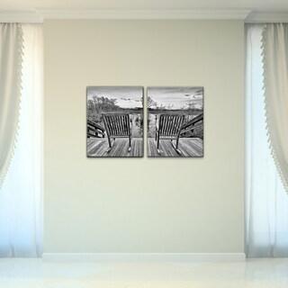 Bruce Bain 'Rocking Chairs' Canvas Wall Art (2-piece Set)