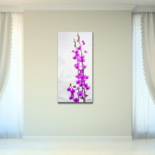 Purple Canvas Rug: Shop Bruce Bain 'Purple Orchid' Canvas Wall Art