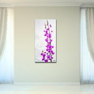 Bruce Bain 'Purple Orchid' Canvas Wall Art