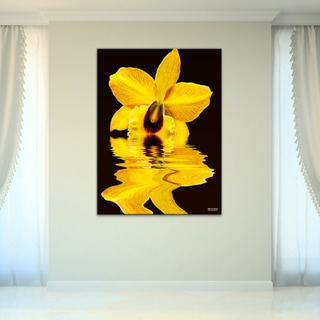 Bruce Bain 'Yellow Orchid' Canvas Wall Art