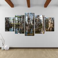 Bruce Bain 'Tall Cypress' Canvas Wall Art (5-piece Set)