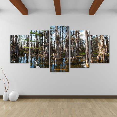 Tall Cypress' 5-Piece Wrapped Canvas Wall Art