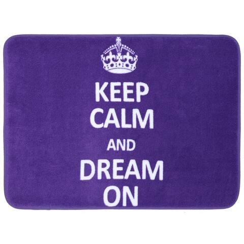 "Mohawk Bath Keep Calm Dream On Purple (17 x 24"")"
