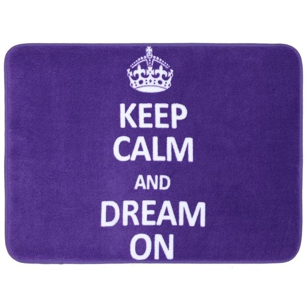 """Mohawk Home Bath Keep Calm Dream On Purple (17 x 24"""")"""