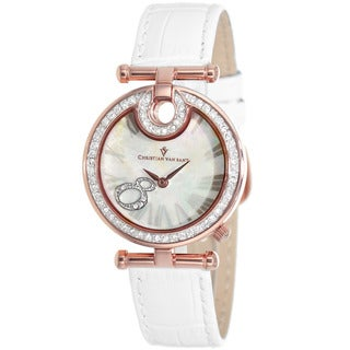 Christian Van Sant Women's White Glamour Watch